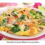 Omelette à la persillade